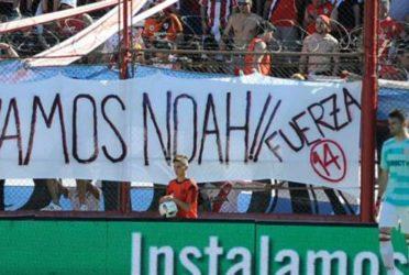 """""""Vamos Noah"""", la bandera de River en apoyo al hijo de Luisana Lopilato"""