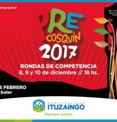 Ituzaingó se prepara para el Pre Cosquín 2017