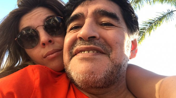 La foto de reconciliación entre Diego y Dalma Maradona