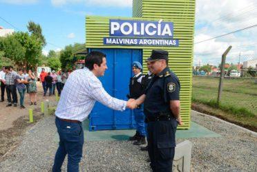 Malvinas Argentinas puso en funcionamiento un nuevo puesto de seguridad