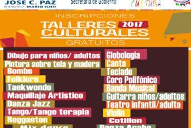 Abre la inscripción para los talleres culturales de José C. Paz