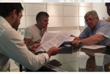 Lanús firmó un convenio con la fundación Leo Messi