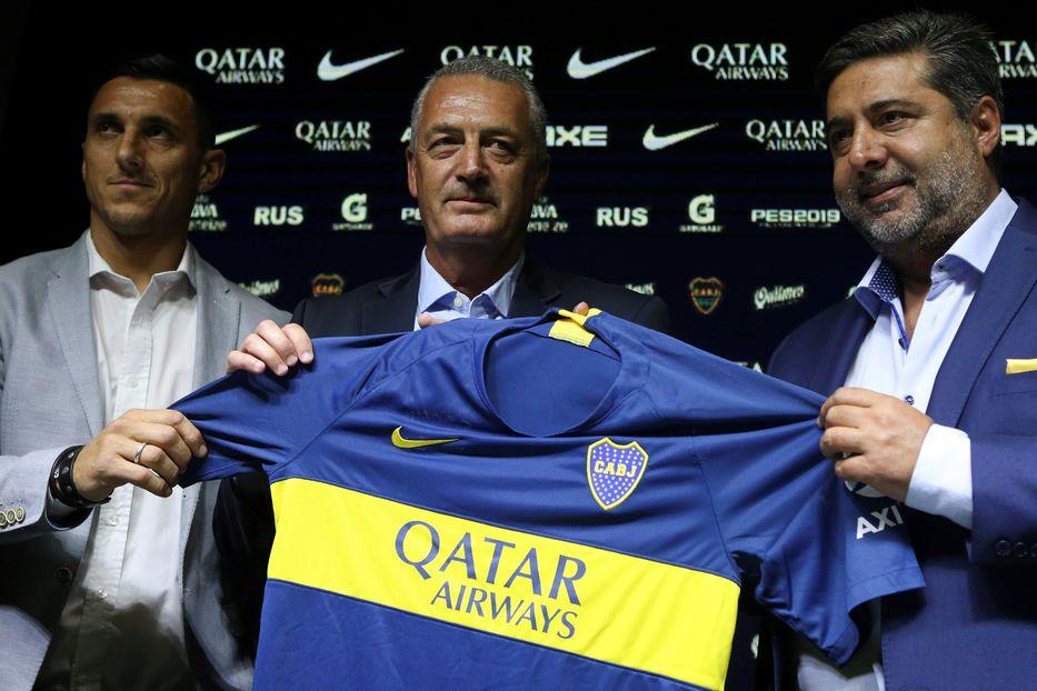 Presentación de Gustavo Alfaro como nuevo entrenador de Boca Juniors en Buenos Aires