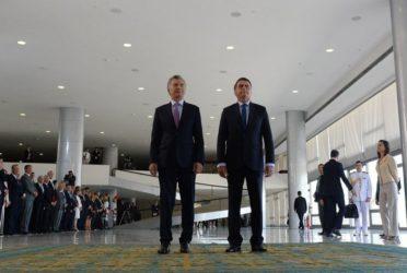 Mauricio Macri y Jair Bolsonaro juntos en Brasilia